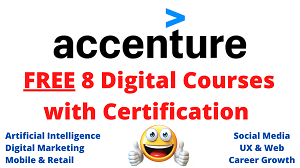 Accenture offers 8 Free courses & Certification _ Freshers, Students, Part time job, Start a Business